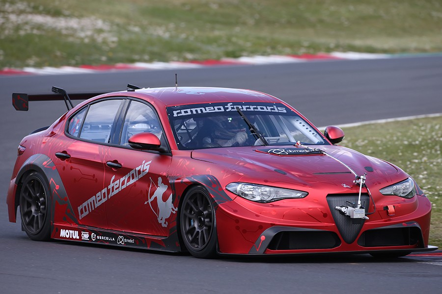 First laps at Vallelunga for the Giulia ETCR by Romeo Ferraris